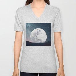 Halloween Moon Unisex V-Neck