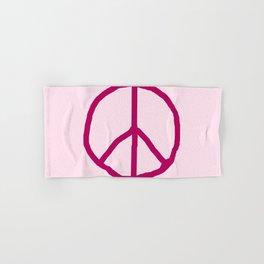 Peace and love 7 - pink Hand & Bath Towel
