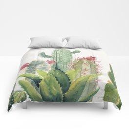 Cactus Watercolor Comforters