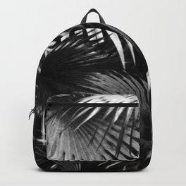 Tropical Botanic Jungle Garden Palm Leaf Black White Backpack