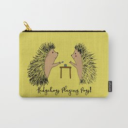 Hedgehogs Playing Pogs  Carry-All Pouch