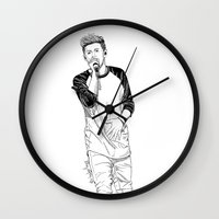 niall Wall Clocks featuring niall by otp-hedgefrog