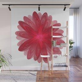 Red Flower Bloom Fractal Wall Mural