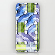 Pipelines watercolor iPhone & iPod Skin