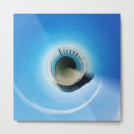 Beach Sphere Metal Print