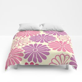 Sumi Print with Pink Daisys Comforters