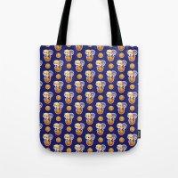 kuroko Tote Bags featuring BASKETBALL BOYFRIENDS (BLUE) by Kura