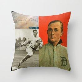 Baseball Vintage Cobb Throw Pillow