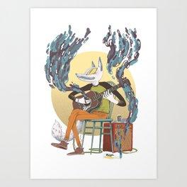 Foxy Jam Art Print