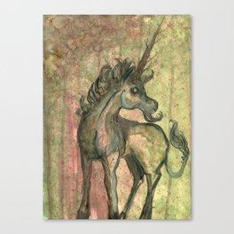 Unicorn (Green) Canvas Print