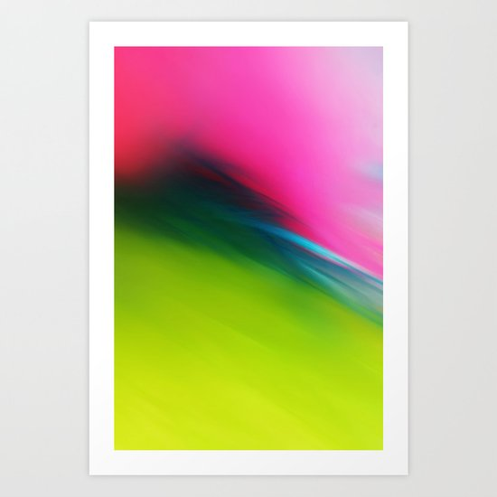 Feather Fiesta in Lime Green Art Print