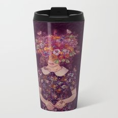 Shy Lady Metal Travel Mug