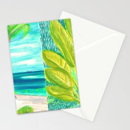 caribe beach and garden Stationery Cards