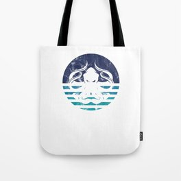 Awesome Vintage Sea Monster Octopus Marine Tote Bag