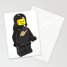 Vintage Lego Black Spaceman Minifig Stationery Cards