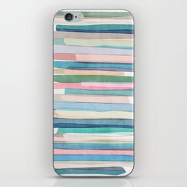Pastel Stripes 1 iPhone Skin