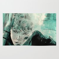 kpop Area & Throw Rugs featuring B.A.P's ZELO by Worldandco