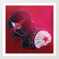 the winter soldier Art Prints featuring Winter Soldier  by Charleighkat