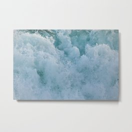 BUBBLES ON THE OCEAN Metal Print