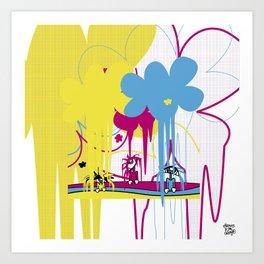 llueve color!! Art Print