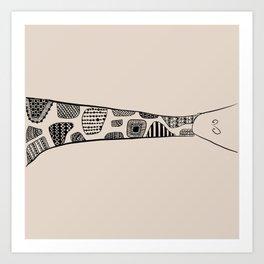 Sleeping Giraffe! Art Print