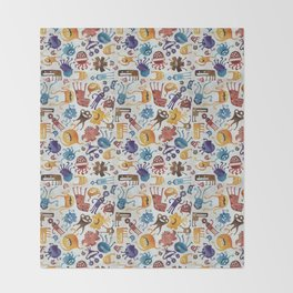 Critter Pattern 3 Throw Blanket