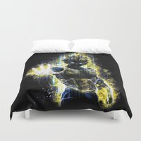 dbz Duvet Covers featuring The Prince of all fighters by Barrett Biggers