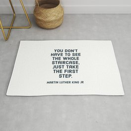 You don't have to see the whole staircase Rug