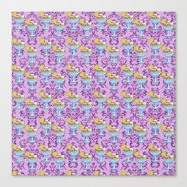 paisley lilac sundaes Canvas Print