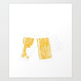 Groom's Brew Crew Funny Groomsmen Bachelor Party Art Print