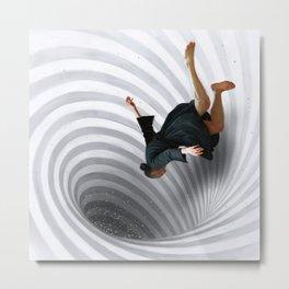 Downward Spiral Metal Print