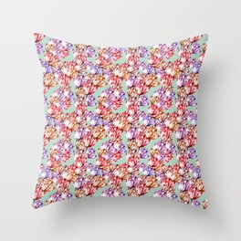 Watercolor Tulips Throw Pillow