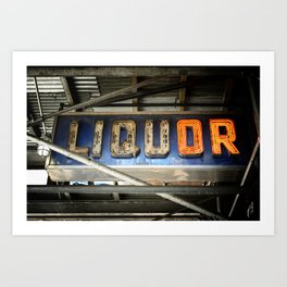 Liquor Sign Art Print