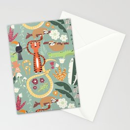 Rain forest animals 001 Stationery Cards