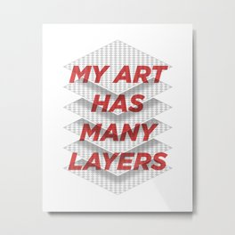 Art Snob Metal Print