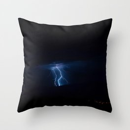 Lightning Strikes - III Throw Pillow