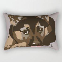 German Shepherd Puppy Rectangular Pillow