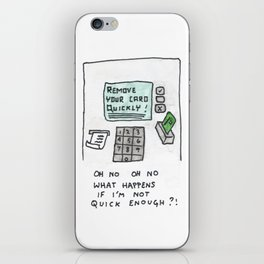 only the fast survive iPhone Skin