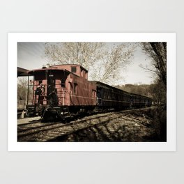 Aged Steam Train Abstract Landscape Photograph Art Print