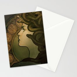Medusa Nouveau Stationery Cards