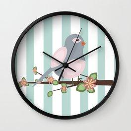 Bird on a branch Wall Clock