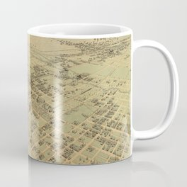 Vintage Pictorial Map of Bakersfield CA (1901) Coffee Mug