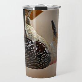 Red-bellied Woodpecker on a Feeder Travel Mug