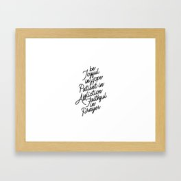 Romans 12:12 Framed Art Print