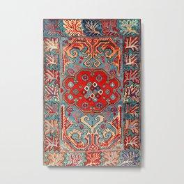 Zeikhur Kuba East Caucasus Rug Print Metal Print