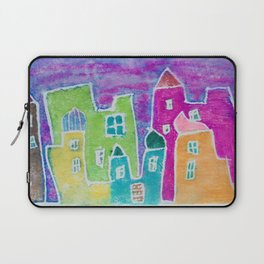 Watercolour Morocco Market at Sunset Laptop Sleeve