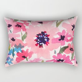 Peachy Wildflowers Rectangular Pillow