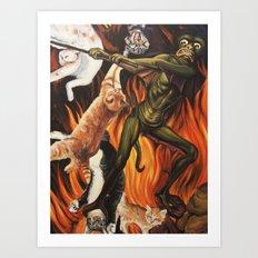 Hell O'Kitty Art Print