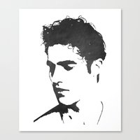 darren criss Canvas Prints featuring Darren Criss Portrait by laurenschroer