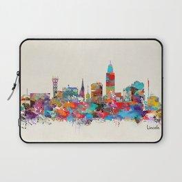 Lincoln Nebraska skyline Laptop Sleeve